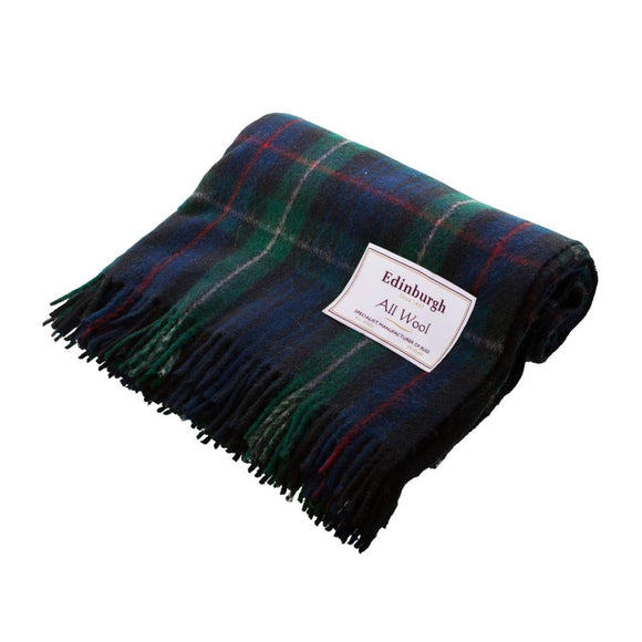 MacKenzie Tartan Wool Throw
