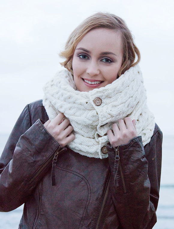 Snood Scarf with Buttons