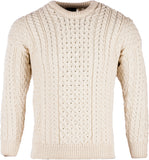 Traditional Wool Aran Sweater