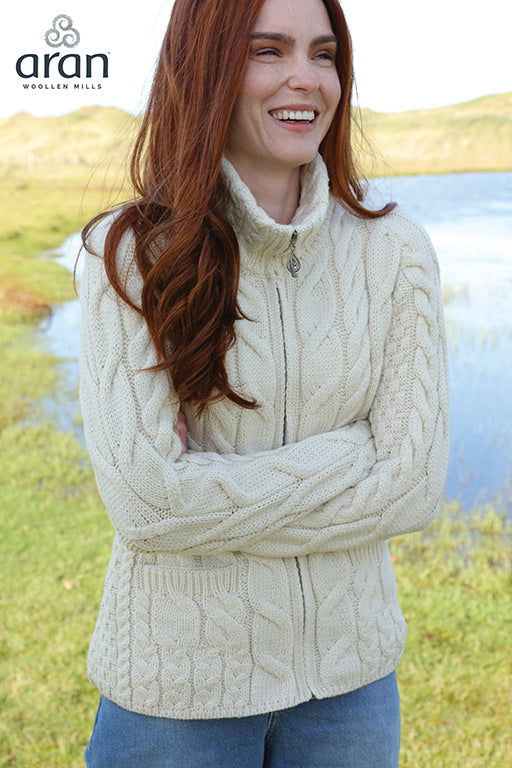 Wool Zipper Cardigan