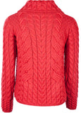 Supersoft Merino Ladies Button Cable Cardigan