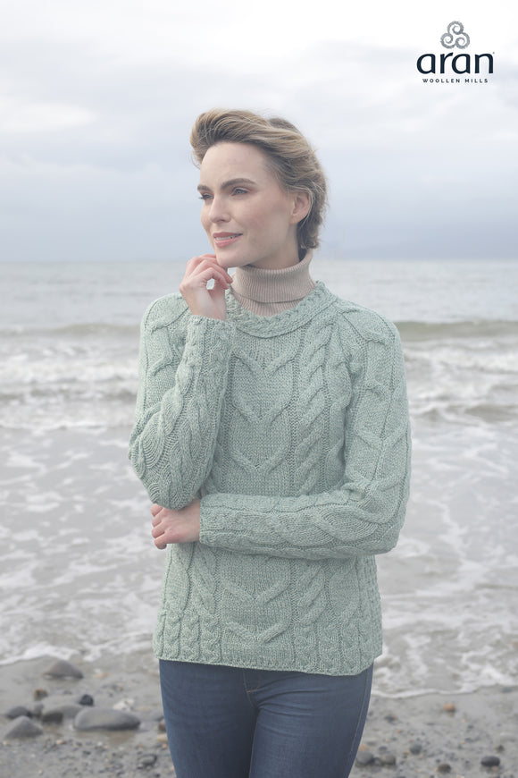 Cable Knit Merino Wool Sweater (B951)