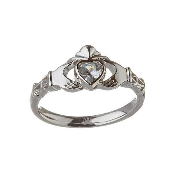 March Birthstone Claddagh Ring