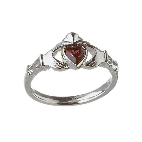 June Birthstone Claddagh Ring