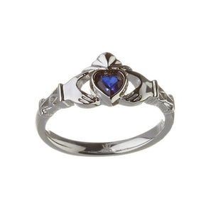 September Birthstone Claddagh Ring