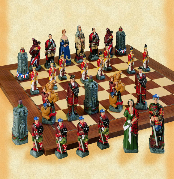 Painted Battle of Culloden Chess Set
