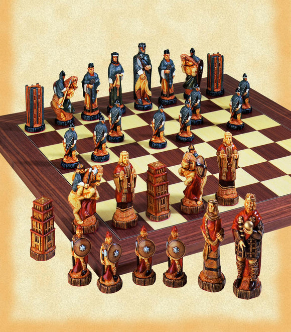 Painted Battle of Hastings Chess Set