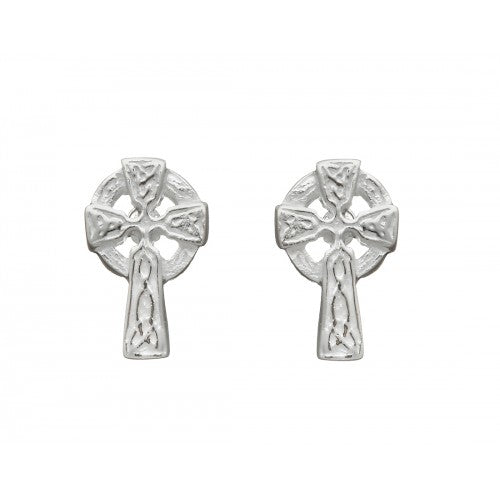 Celtic Cross Small Stud Earrings