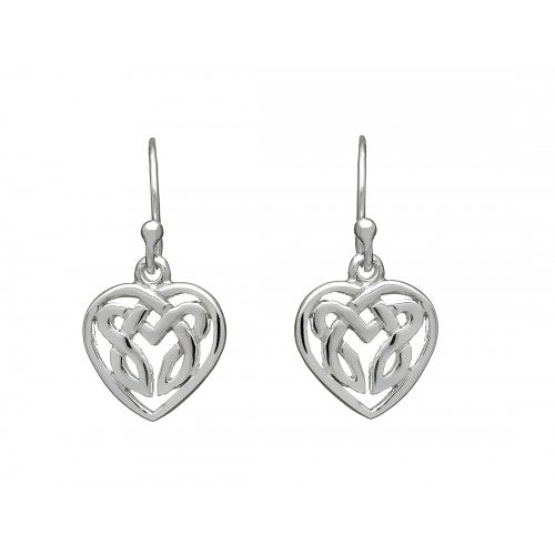 Celtic Heart Drop Earrings