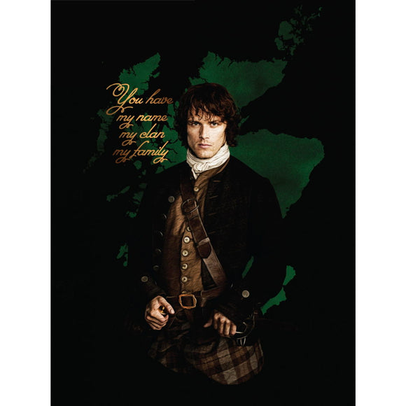 Outlander Flannel Fleece Blanket