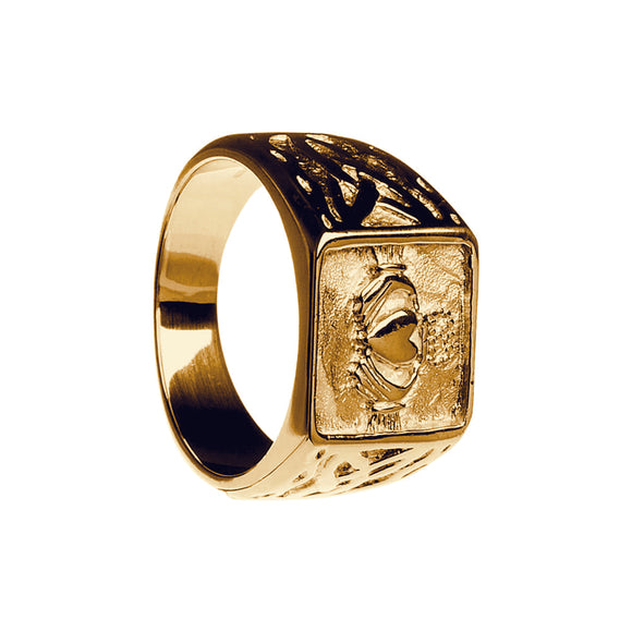 Gents Signet Claddagh Ring