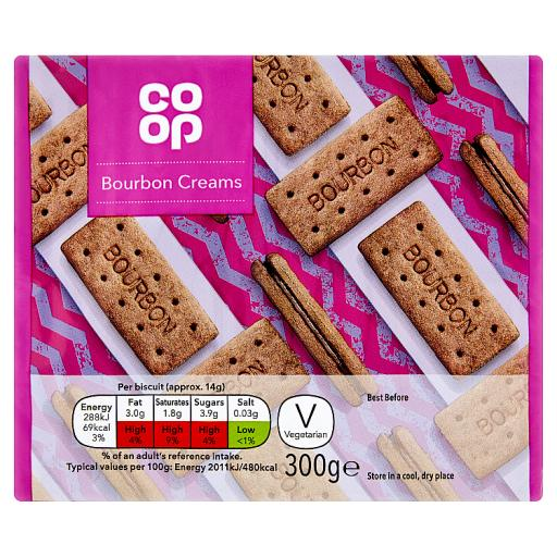 Co Op Bourbon Creams 300g