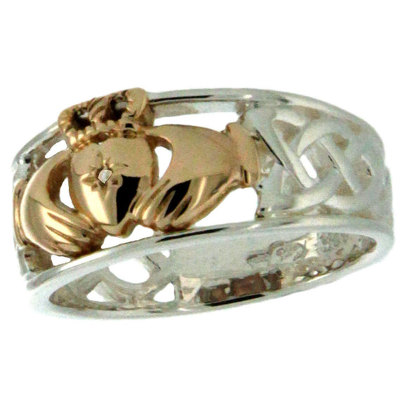 Tapered Diamond Claddagh Ring