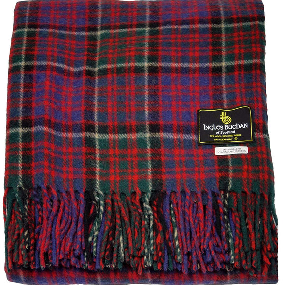 MacDonald of Clanranald Tartan Throw