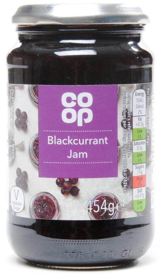 Co Op Blackcurrant Jam 454g