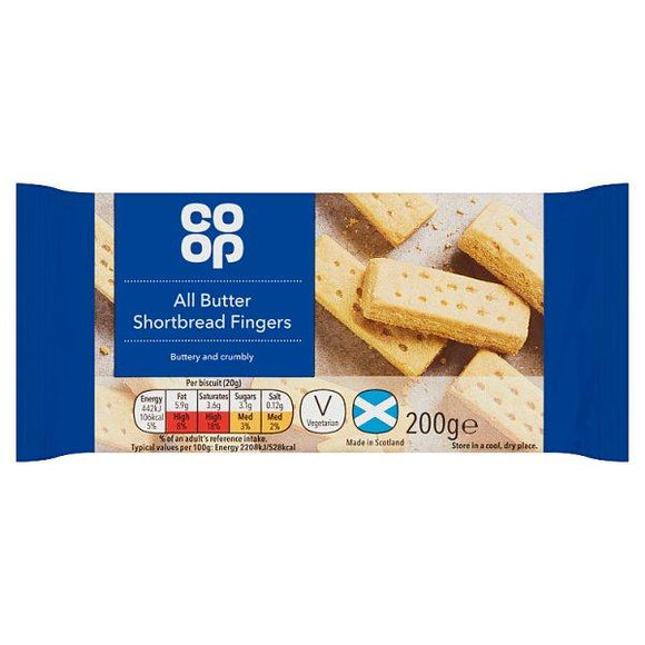 Co-op All Butter Shortbread 200g