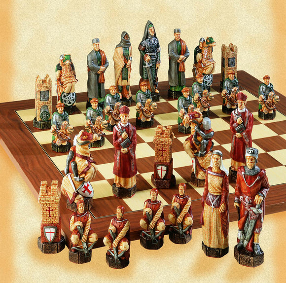 Painted Crusades Chess Set
