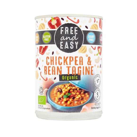 Free & Easy Organic Chick Pea & Bean Tagine