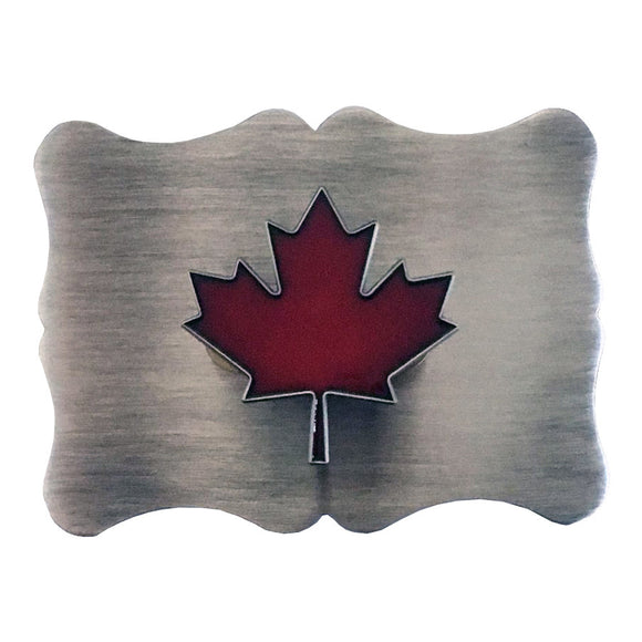 Maple Leaf Traditional Satin Buckle