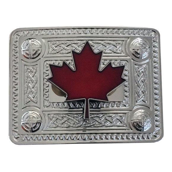 Maple Leaf Celtic Knot Buckle