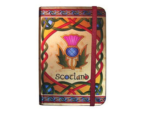 Scottish Thistle Foil Note Book