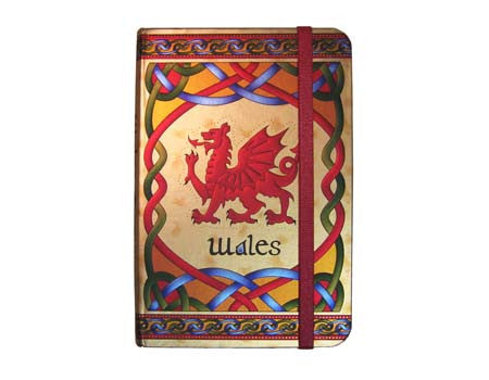 Welsh Dragon Foil Note Book