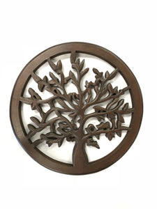 "12"" Wood Tree Of Life Wall Hanging"