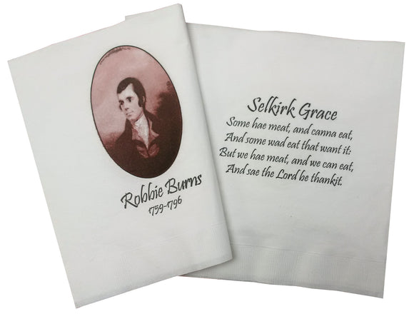 Robbie Burns Napkins (Set of 15)