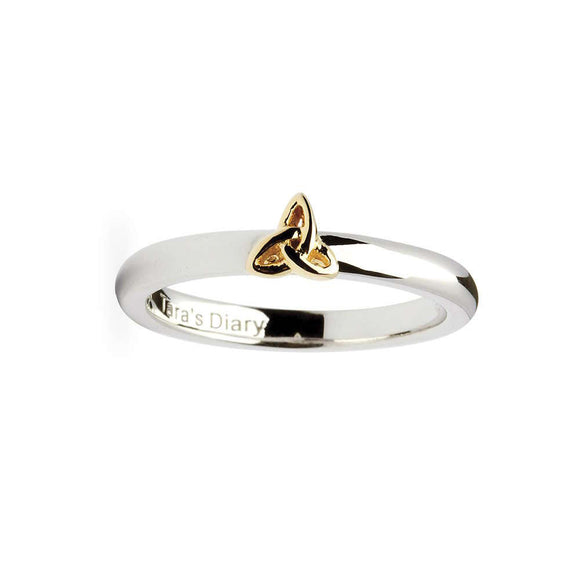 Trinity Knot Silver Stacking Ring