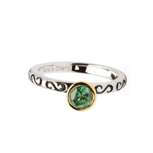 Emerald Silver Stacking Ring
