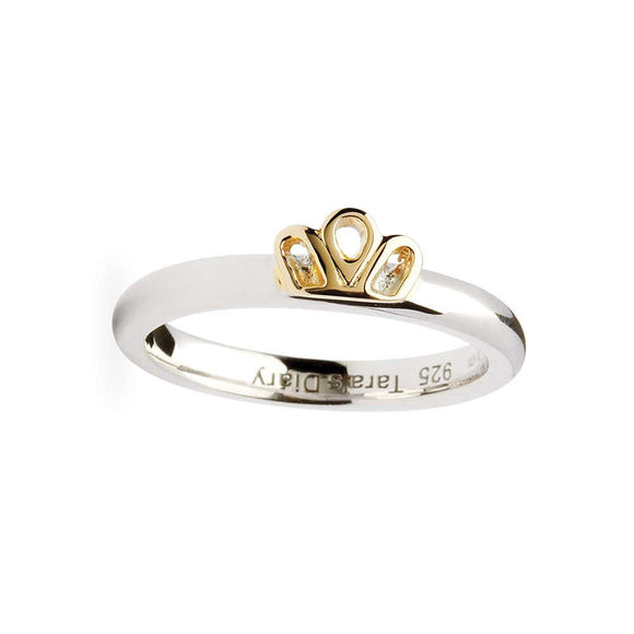 Claddagh Crown Silver Stacking Ring