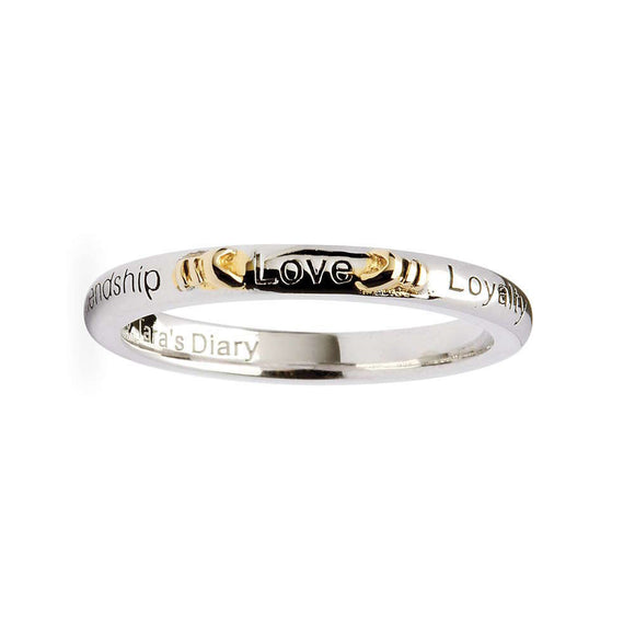Love, Loyalty, Friendship Silver Stacking Ring