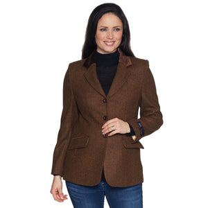 Ladies Brown Moon Tweed Jacket