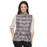 Ladies Wine Tweed Gilet