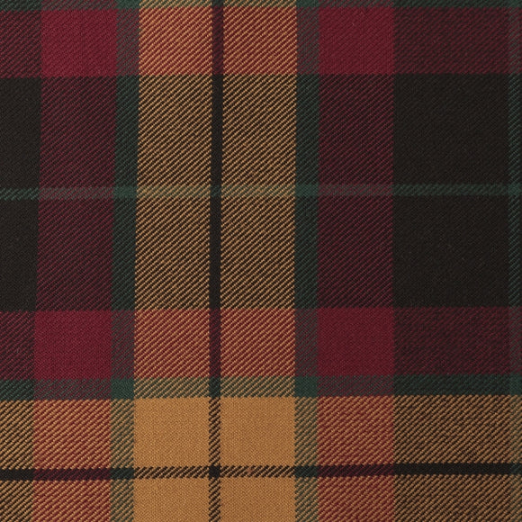 MacMillan Black Tartan Poly Viscose Cloth