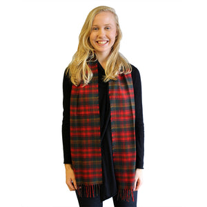 Maple Leaf Tartan Lambswool Scarf