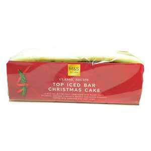 M&S Iced Top Christmas Cake Bar