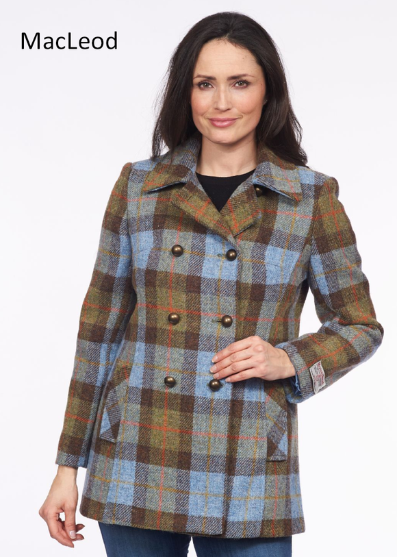 Ladies Double Breasted Tweed Coat