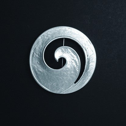 Spiral Cutout Pewter Brooch