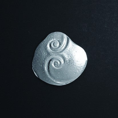 Celtic Spirals Oblong Pewter Brooch