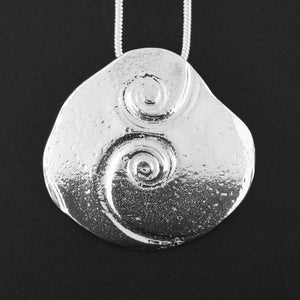 Celtic Spirals Oblong Pewter Pendant