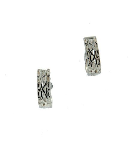 Celtic Weave Huggie Earrings
