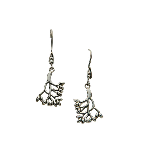 S/sil Tree of Life Small Hook Earrings