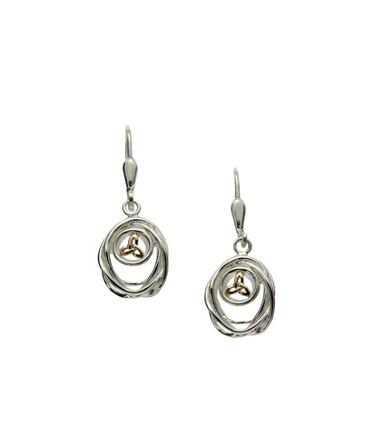 Celtic Cradle of Life Leverback Drop Earrings