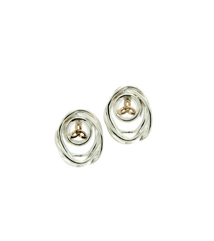 Celtic Cradle of Life Post Earrings