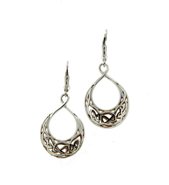 Gilded Window to the Soul Teardrop Leverback Earrings