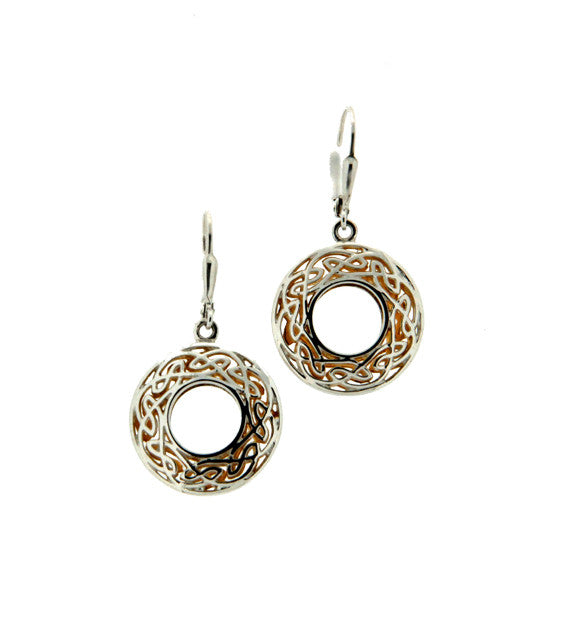 Gilded Window to the Soul Round Leverback Earrings