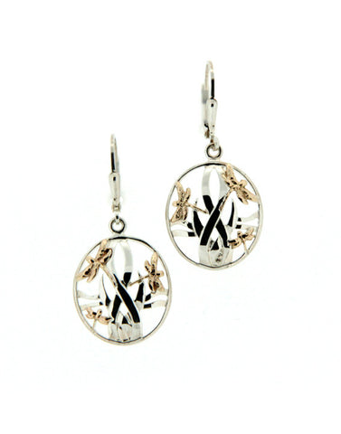 Dragonfly in Reeds Leverback Earrings