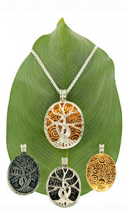 Gilded Tree of Life 4-Way Pendant