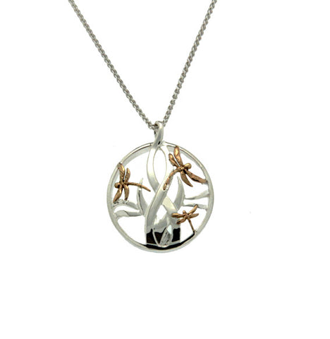 Dragonfly in Reeds Small Pendant